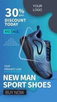 Social Media Story Sport Shoe Sale template