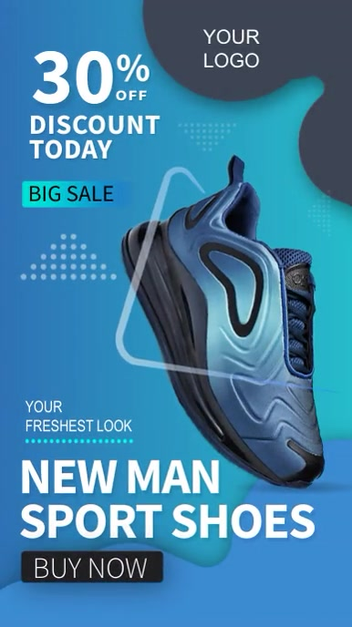 Social Media Story Sport Shoe Sale Instagram-verhaal template