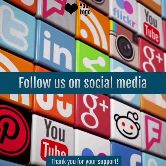 Social media wall invitation video