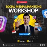 Social Media Workshop Quadrado (1:1) template