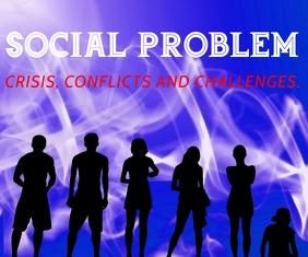 SOCIAL PROBLEM BOARD SIGN TEMPLATE Rectángulo Grande
