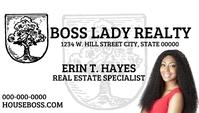 Real Estate Agent business card Visitekaartje template