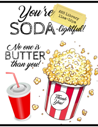 SODA & BUTTER POPCORN Flyer (US Letter) template