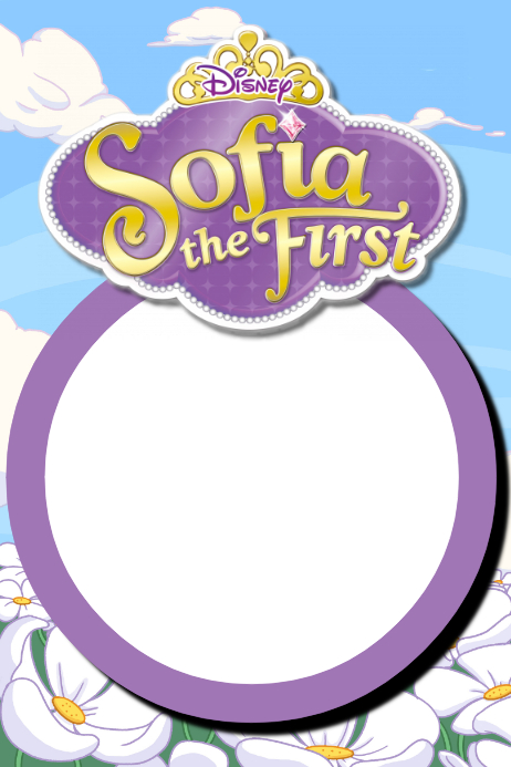 Sofia The First Party Prop Frame Template