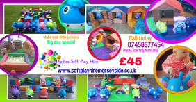 Soft play hire leaflet simple editable