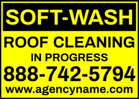 Soft Wash Roof Cleaning Sign Template Poskaart