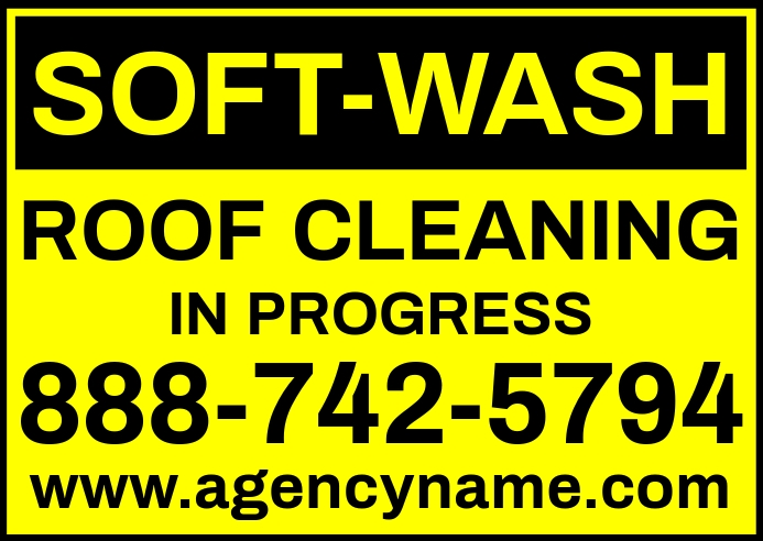 Soft Wash Roof Cleaning Sign Template Kartu Pos