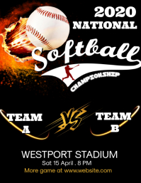 Softball Championship template Flyer (US Letter)