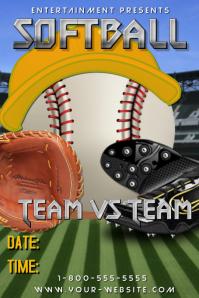 customizable design templates for softball postermywall