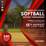 Softball Spring Tournament Video Ad Square (1:1) template