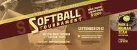 Softball Tournament Facebook Cover Photo template