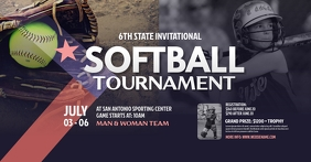 Softball Tournament Facebook Shared Image template