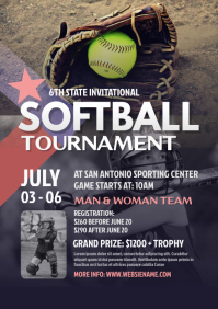 Softball Tournament Flyer A4 template