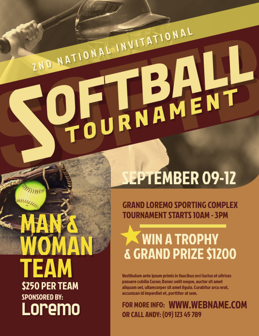 Softball Tournament Flyer
