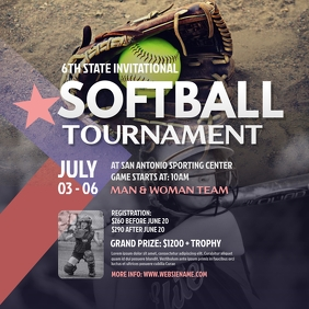Softball Tournament Instagram Post template