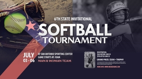 Softball Tournament Twitter Post template