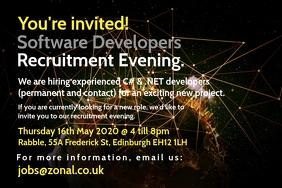 Software Developer Recruitment Poster