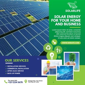 Solar Business Ads Instagram Post template