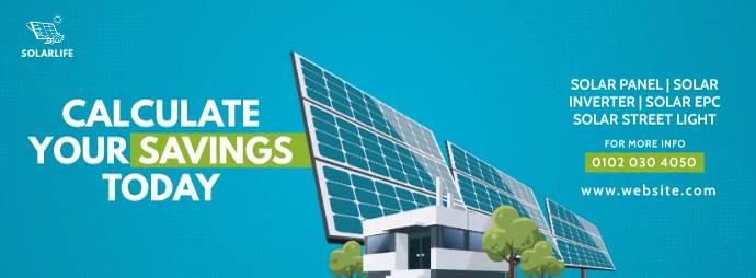 Solar Company Ad Portada de Facebook template