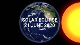 Solar Eclipse Twitter Post template
