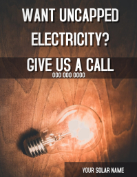SOLAR ENERGY AD FLYER