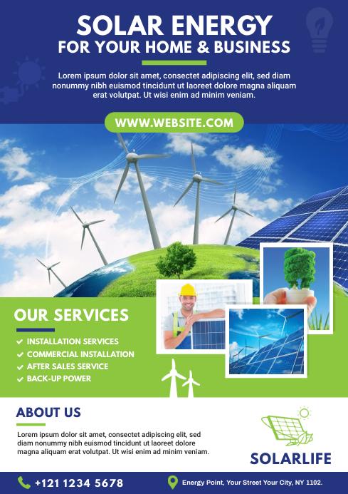 Solar Energy Company Flyer A4 template