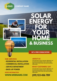 Solar Energy Company Flyer
