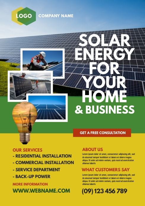 Solar Energy Company Flyer Template Postermywall