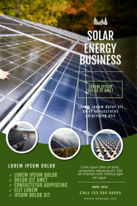 Solar Energy Company Flyer Template Poster