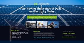 Solar Energy Company Facebook Shared Image Template