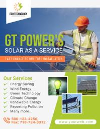 Solar Energy Flyer Template