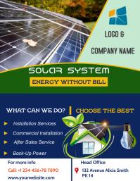 solar energy system sale flyer template