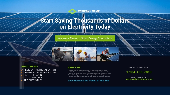 Solar Energy Company Twitter Post Template