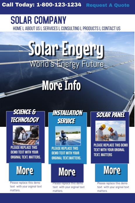 solar energy website template postermywall