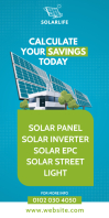 Solar Panel Ad Rul-op banner 3' × 6' template