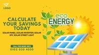Solar Panel Ad Publicación de Twitter template