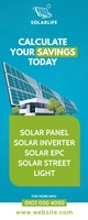 Solar Panel Ad Rolbanner 2' × 5' template