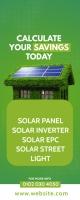 Solar Panel Ad Spanduk Gulir Atas 2' × 5' template