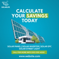 Solar Panel Ad Post Instagram template