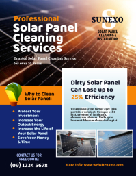 Solar Panel Cleaning Flyer Pamflet (Letter AS) template