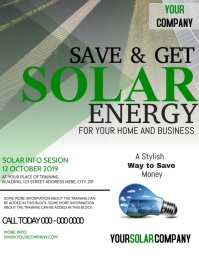 Solar Panels Flyer Template