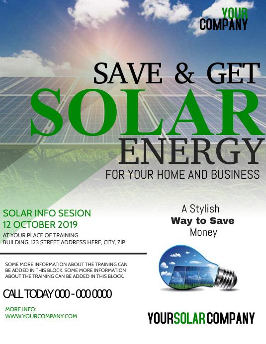Solar Panels Flyer Template