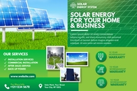 Solar power advert Label template