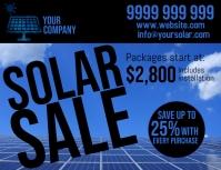 Solar Power Folder (US Letter) template
