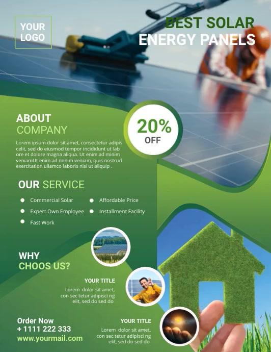 Solar Power Flyer Pamflet (Letter AS) template