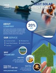 Solar Power Flyer Рекламная листовка (US Letter) template