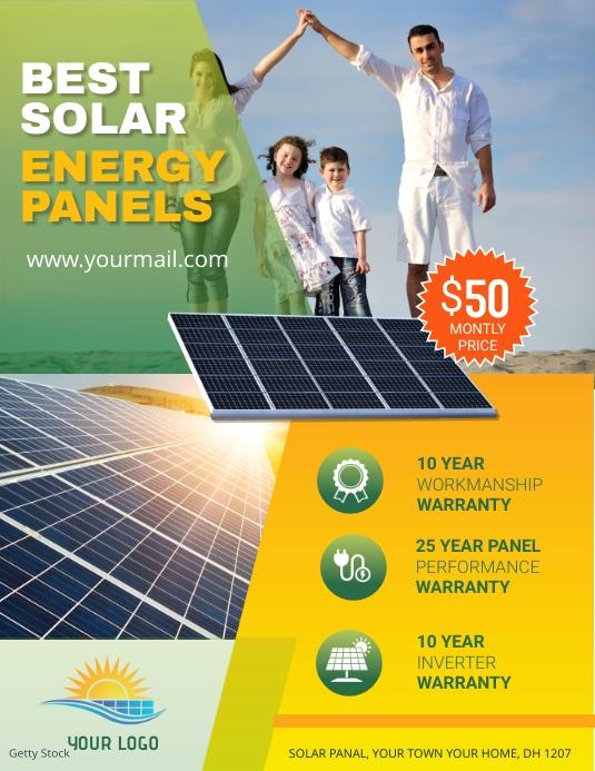Solar Power Flyer template