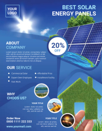 Solar Power Flyer template