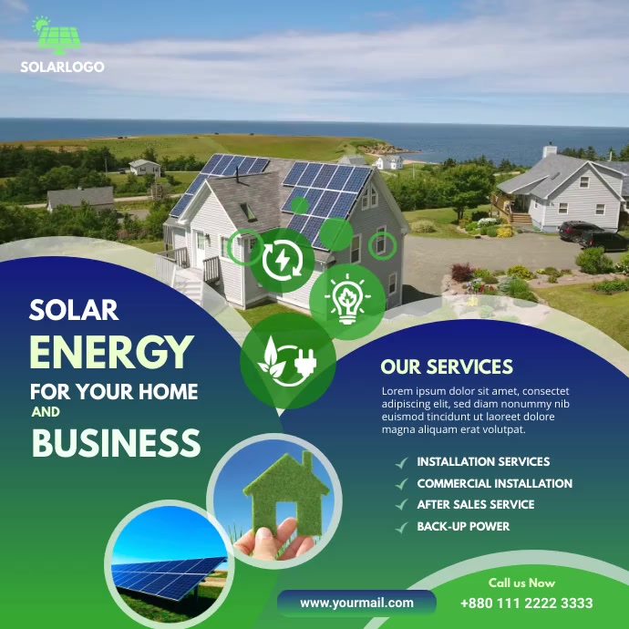 Solar Power Instagram post template