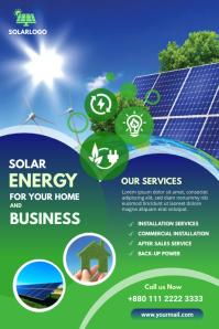 Solar Power Poster template
